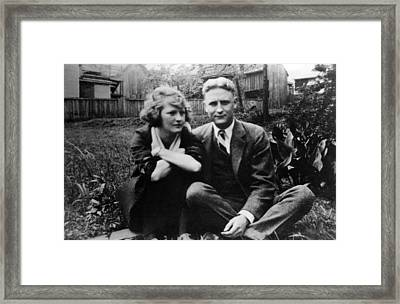 Zelda Fitgerald And F.scott Fitzgerald Framed Print by Everett