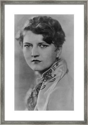 Zelda Fitzgerald 1900-1948, Talented Framed Print