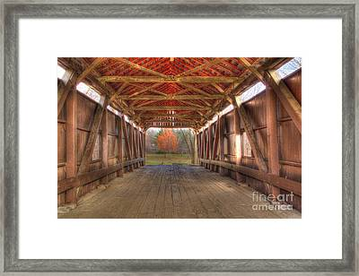 Sycamore Park Covered Bridge Framed Print
