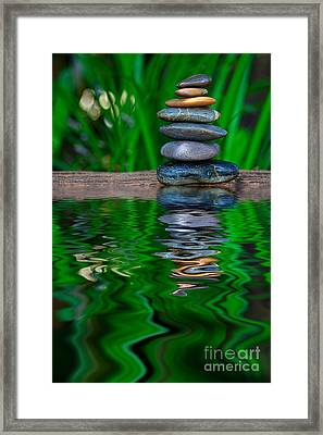 Zen Art And Reflections By Kaye Menner Framed Print by Kaye Menner