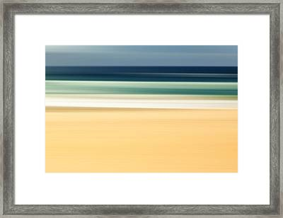 Zen Beach Framed Print