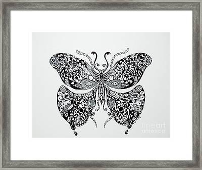 Zen Butterfly Framed Print by Tamyra Crossley