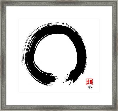 Zen Circle Five Framed Print