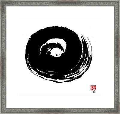 Zen Circle Wave Framed Print