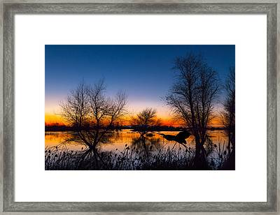 Zen Dawn Framed Print