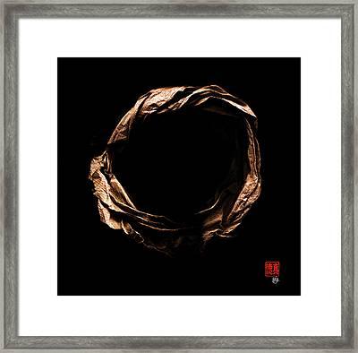Zen Origami Enso 8 Framed Print