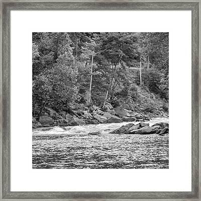 Zen Fishing - Bw Framed Print