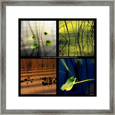 Zen For You Framed Print by Susanne Van Hulst