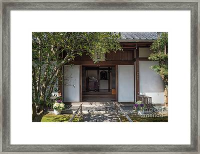 Zen Garden, Kyoto Japan 4 Framed Print by Perry Rodriguez
