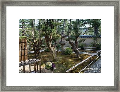 Zen Garden, Kyoto Japan 5 Framed Print by Perry Rodriguez