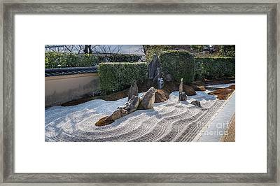 Zen Garden, Kyoto Japan 6 Framed Print by Perry Rodriguez