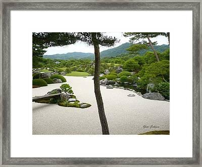 Zen Garden Framed Print by Yumi Johnson