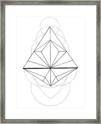 Zen Geometry Framed Print by Elizabeth Davis