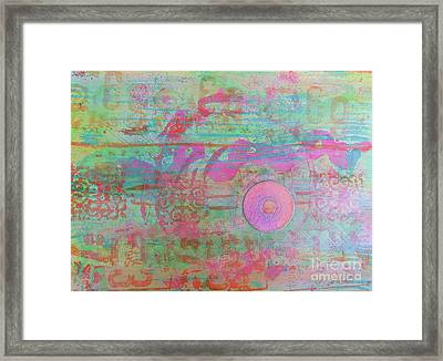 Zen In Pink And Green Framed Print by Desiree Paquette