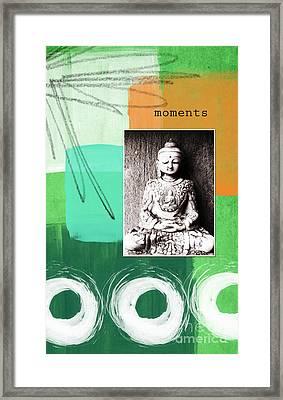 Zen Moments Framed Print by Linda Woods