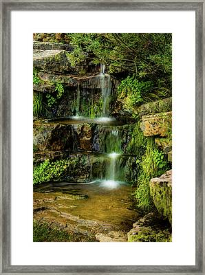 Framed Print featuring the photograph Zen Pools - Provo River Falls by TL Mair