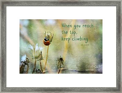 Zen Proverb Framed Print by Clare Bevan