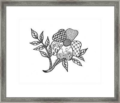 Zen Sitka Rose Framed Print