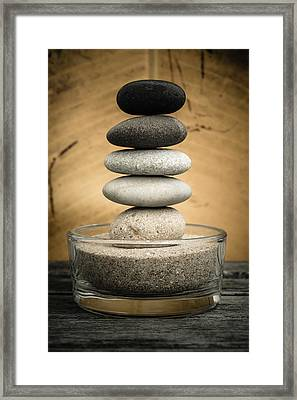Zen Stones I Framed Print