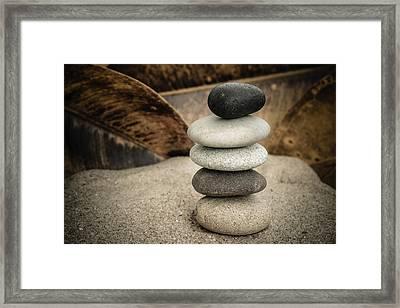 Zen Stones IIi Framed Print