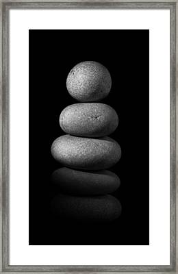 Zen Stones In The Dark II Framed Print by Marco Oliveira