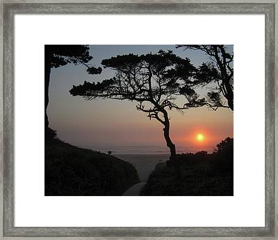 Zen Sunset Framed Print by HW Kateley