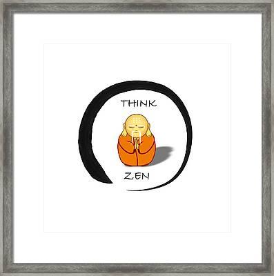 Zen Symbol With Buddha Framed Print by John Wills