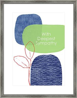 Framed Print featuring the mixed media Zen Sympathy Card- Art By Linda Woods by Linda Woods