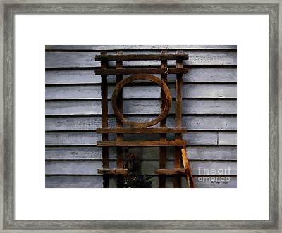 Zen Trellis Framed Print
