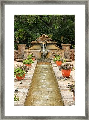 Zen Water Feature Waterfall Framed Print