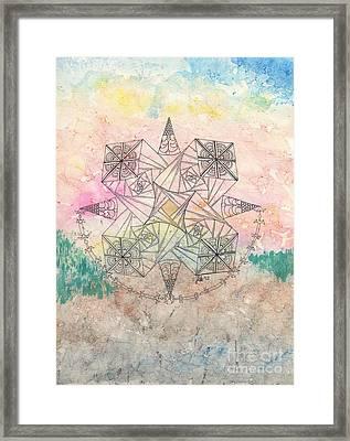 Zendala Jumprope Framed Print by Lori Kingston