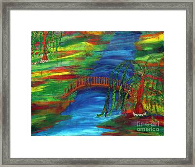 Zenful Moment Framed Print by Michelle Teague
