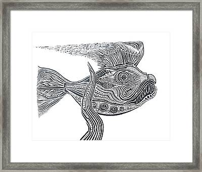 Zentangle Fish Framed Print