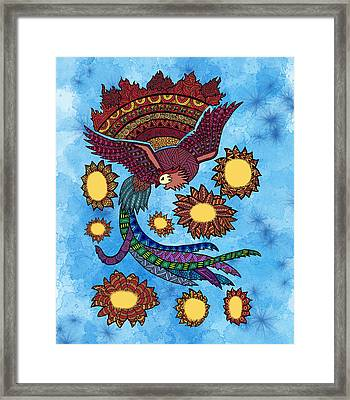 Zentangle Phoenix Framed Print