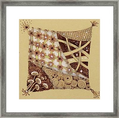 Zentangle  Web Of Life Framed Print by Cecie McCaffery