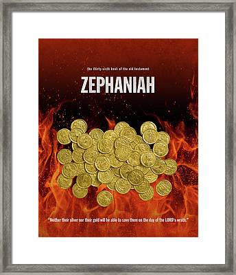 Zephaniah Books Of The Bible Series Old Testament Minimal Poster Art Number 36 Framed Print
