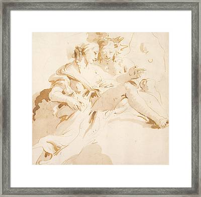 Zephyr And Flora Framed Print by Tiepolo