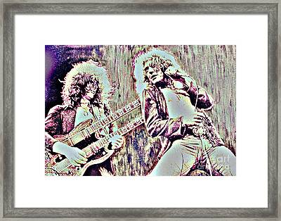 Zeppelin Concert On Wood  Framed Print by Natalie Ortiz