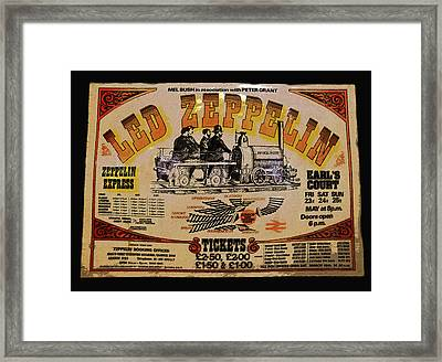Zeppelin Express Framed Print by David Lee Thompson