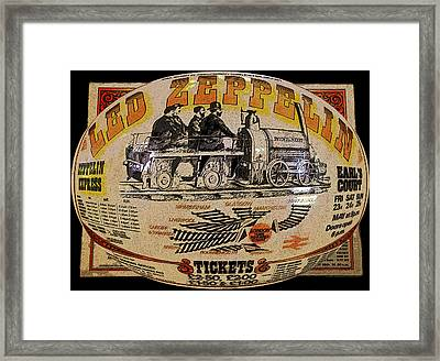 Zeppelin Express Work B Framed Print by David Lee Thompson