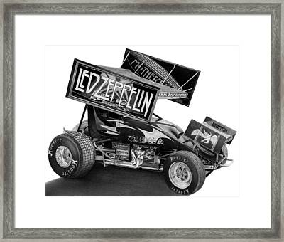 Zeppelin Sprinter Framed Print by Lyle Brown