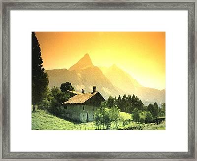 Zermatt Sunset   William Kaluta Artist Framed Print