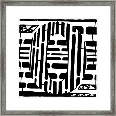 Zero Maze Framed Print by Yonatan Frimer Maze Artist