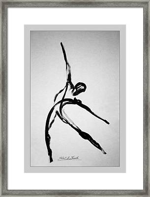 Zeta X6 Dancer Framed Print