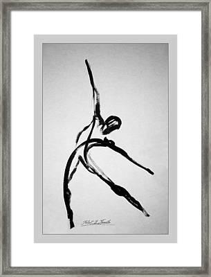 Zeta X6 Dancer Framed Print by Robert Kernodle