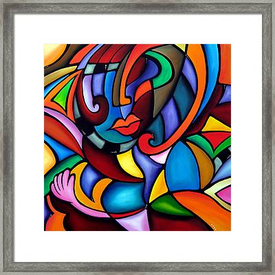 Zeus - Abstract Pop Art By Fidostudio Framed Print by Tom Fedro - Fidostudio