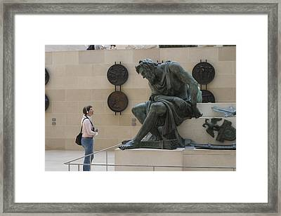 Framed Print featuring the photograph Zeus Confronts Woman by Carl Purcell
