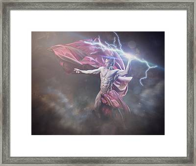 Zeus Conservative Version Framed Print