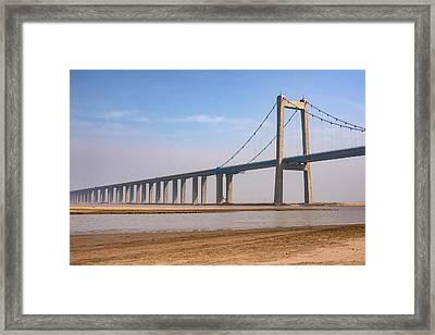 Zhengzhou Taohuayu Huanghe Bridge  Framed Print