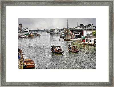 Zhujiajiao - A Glimpse Of Ancient Yangtze Delta Life Framed Print by Christine Till